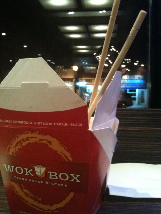 The distinctive Wok Box take-out container